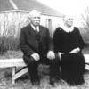 Jakob and Mari Erdman celebrate their 60th wedding anniversary in Barons, Alberta in 1933.