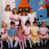 Children attending Calgary Estonian supplementary school on Mother's Day in 1989.