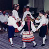 Group of Calgary Estonian students performing a folkdance in 1991.