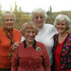 Four descendants and relatives of Crimea Estonians meet in Calgary, Alberta to explore their common heritage in 2008. L to R: Wilma Pertel-Costello, Lillian Munz, Evelyn Erdman and Anita Linderman-Madill