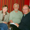 Members of the Alberta Estonian Heritage Society Board of Directors meet in the Golden Piglet Pub in Tallinn, Estonia in 2007. L to R: Eda McClung, Jüri Kraav, Helgi Leesment, Dave Kiil and Bob Kingsep during the first meeting of the Board outside North America.