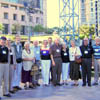 A sizable contingent of Alberta Estonian Heritage Society members attended the West Coast Estonian Days in Los Angeles, California in August of 2007. The group is shown here on an outdoor stage, the site of a colorful Estonian folkdancing performance.