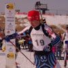 Andrew at the start of a biathlon race that he won two gold medals at the British Columbia championships and became the Alberta champion in 2009.