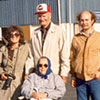 Ellen (in front); left to right:  Evelyn (Derek's wife), Roy Johnson, and Derek Gullickson