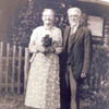 In 1903, John and Marie Kinna settled on a homestead north of Eckville, Alberta. Here they are thirty years later.