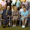 Back row: Karla and Doug Erdman, Sally and Oscar Erdman, Mr. Seeman, Mr. Koddo, Gerda and Mr. Rouk, Mrs. Holtswell, Mrs. Koddo, Hilda Erdman, Sandra, Elsie and Alfred Erdman, Martha MunzGue, David Gue, Albert Munz. Middle row: Dorothy Erdman, Anne Erdman, OPscar's boys? teenage Linda Erdman. Front row: Lisa Silberman age 92, Gus Kulpas, Alide Kulpas, Linda Erdman (blue dress), Karl Erdman (Linda's son), Eda Seeman and child, Eda's husband, and Lillian Munz (Daughter of Linda's cousin Helmi Silberman Munz).