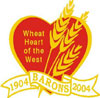 "The Barons ""Wheat Heart of the West"" 1904-2004 Centennial logo."