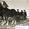Members of the Hennel family enjoy a leisurely sleigh ride during the winter of 1910.