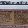 This sign was erected along Highway 56 near Stettler, Alberta in recognition of the pioneer Estonian Settlement in the area.